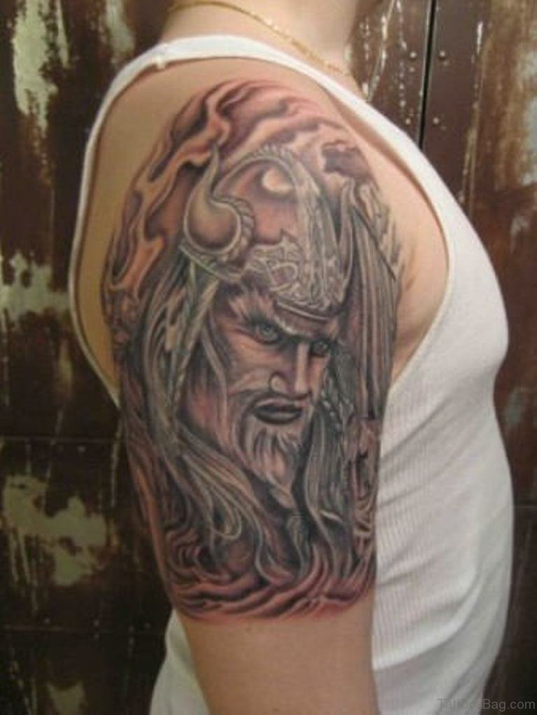 57 magnifying viking tribal shoulder tattoos for Tribal warrior tattoos
