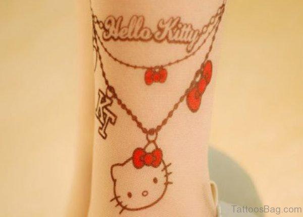 Ankle kitty Wrist Tattoo
