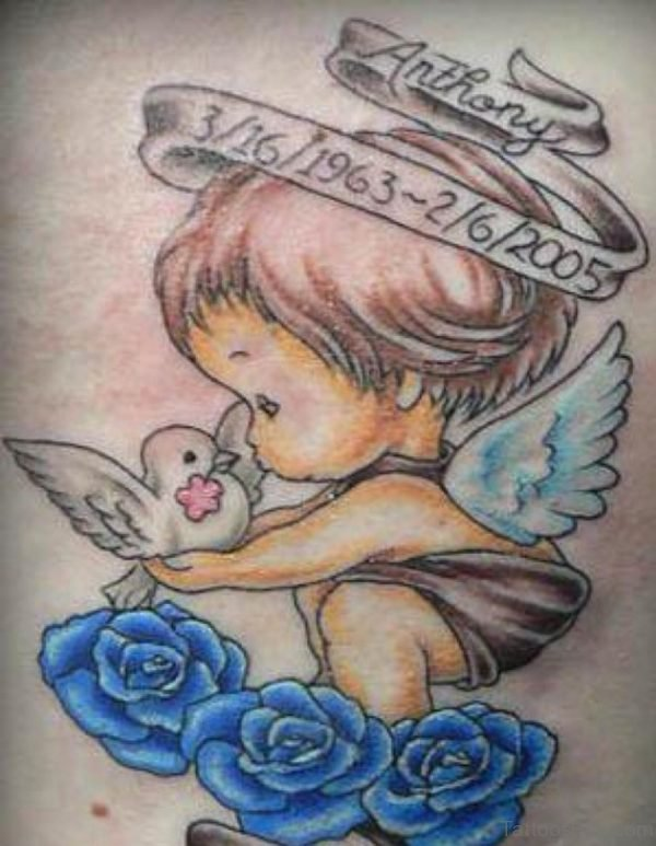 Anthony Memorial Angel Tattoo