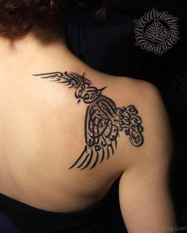 Arabic Bird Tattoo