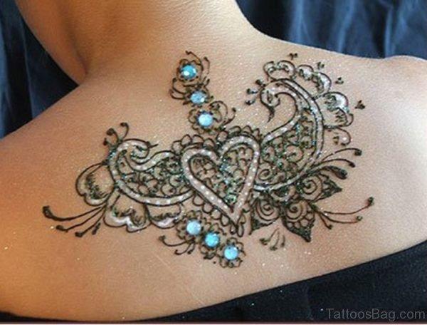 Arabic Heena Heart Tattoo