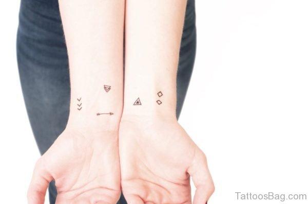 Arrows Geometric Tattoo On Wrist