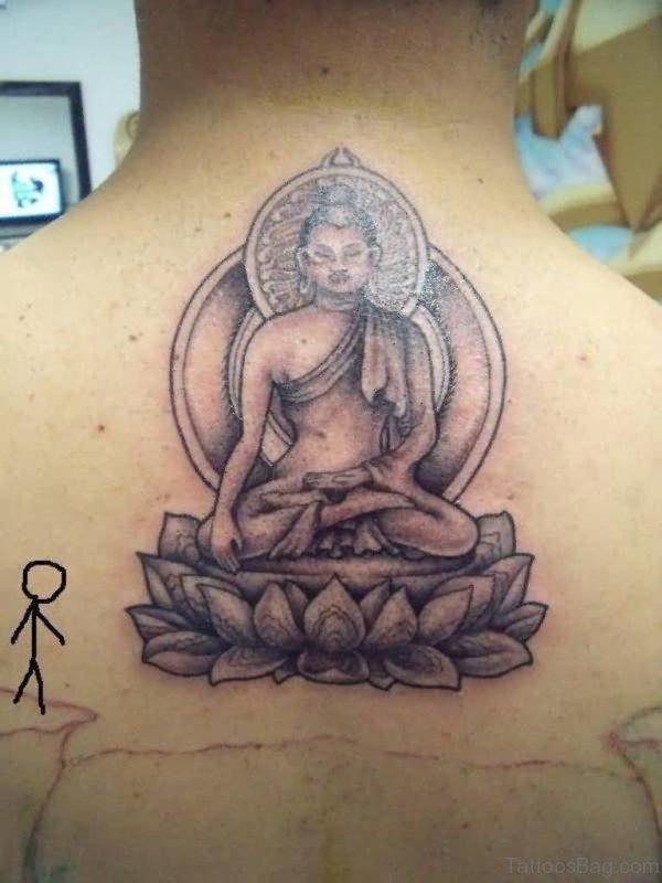 Asian Buddha Tattoo Design