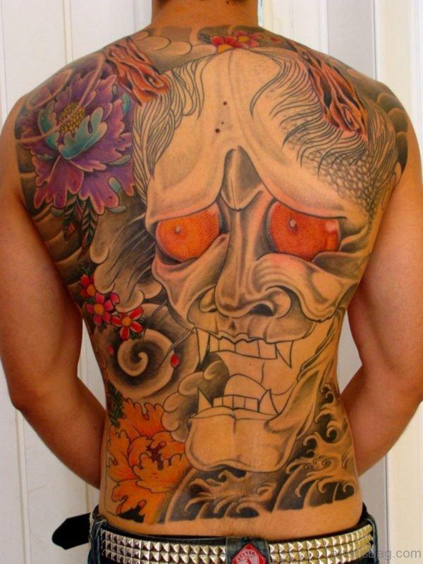 Asian Hannya Mask Tattoo Design