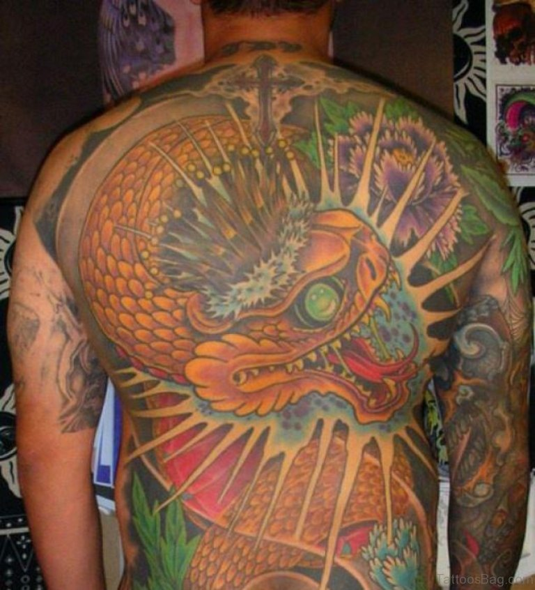 Asian King Snake Tattoo
