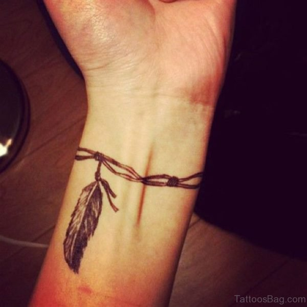 Attractive Feather Tattoo