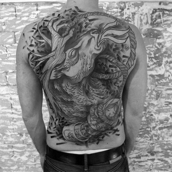 Attractive Back Tattoo Design