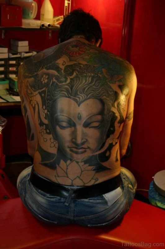 Attractive  Buddha Tattoo