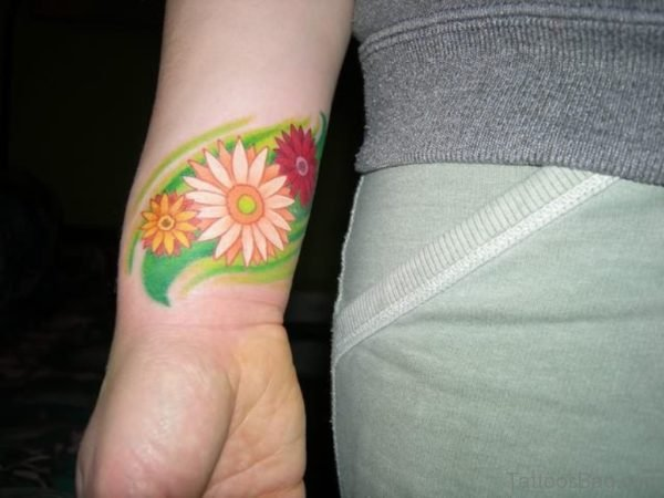 Attractive Daisy Flower Tattoo