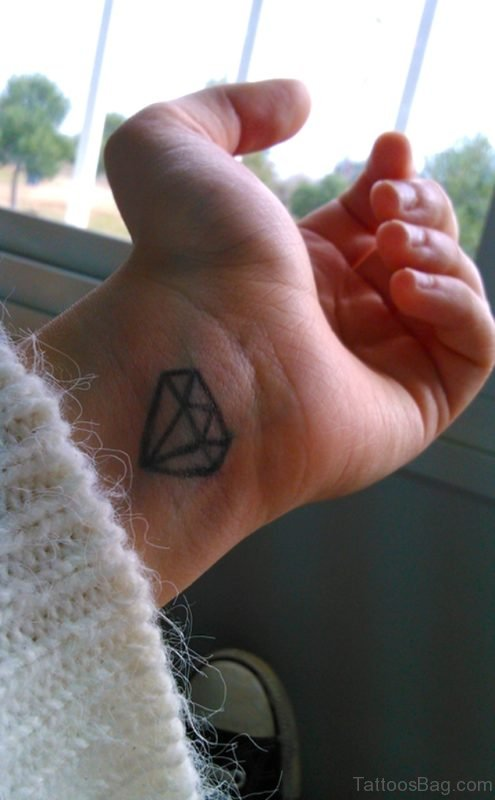 Attractive Diamond Tattoo