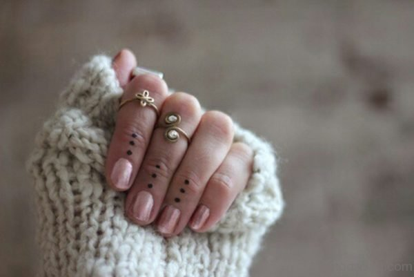 Attractive Dots Tattoo Design