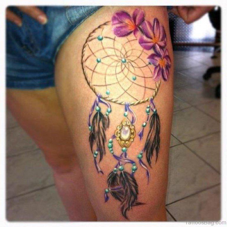 Attractive Dreamcatcher Tattoo