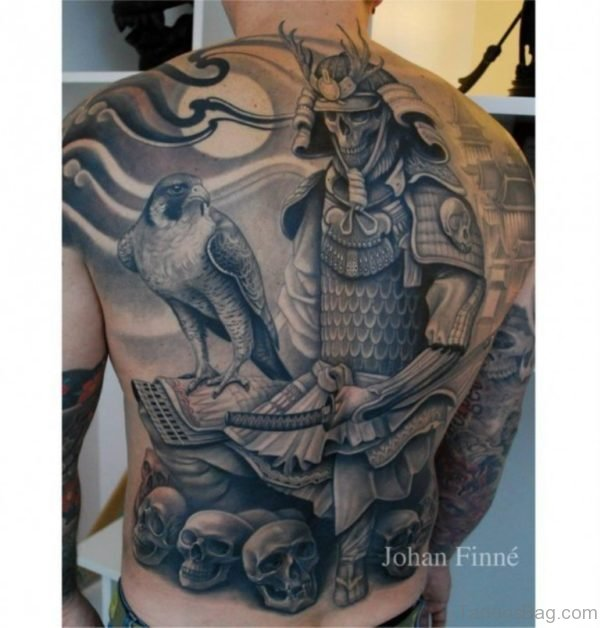 Attractive Japanese Samurai Tattoo