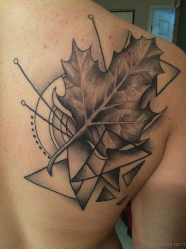 Attractive Leaf Tattoo Design