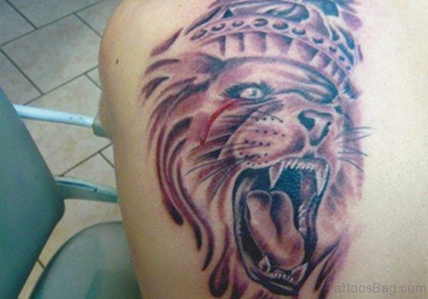Attractive Lion Tattoo Design