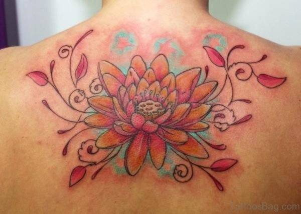 Attractive Lotus Flower Tattoo