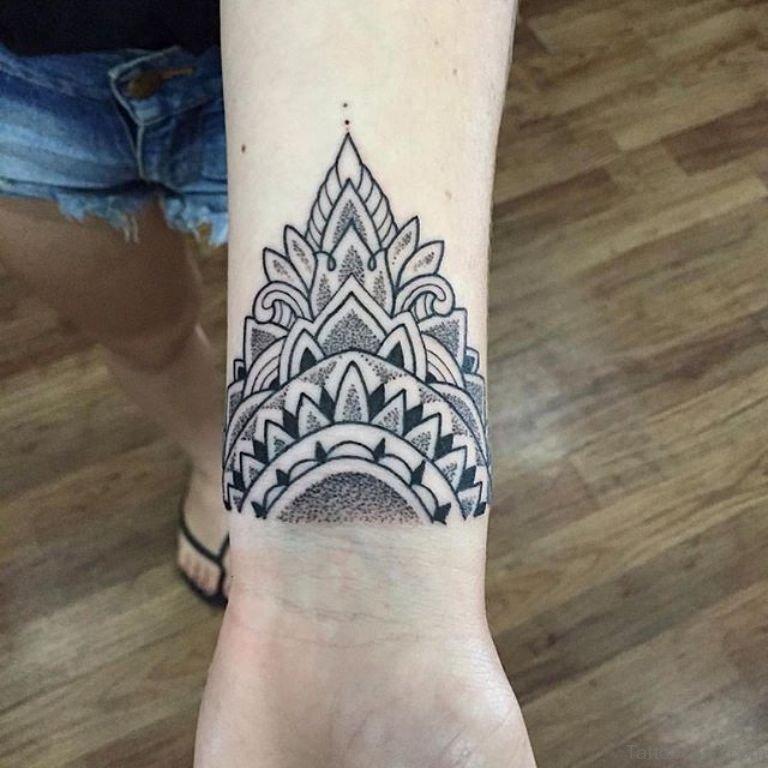 Mandala And Flower Tattoo: 81 Fancy Mandala Tattoos On Wrist