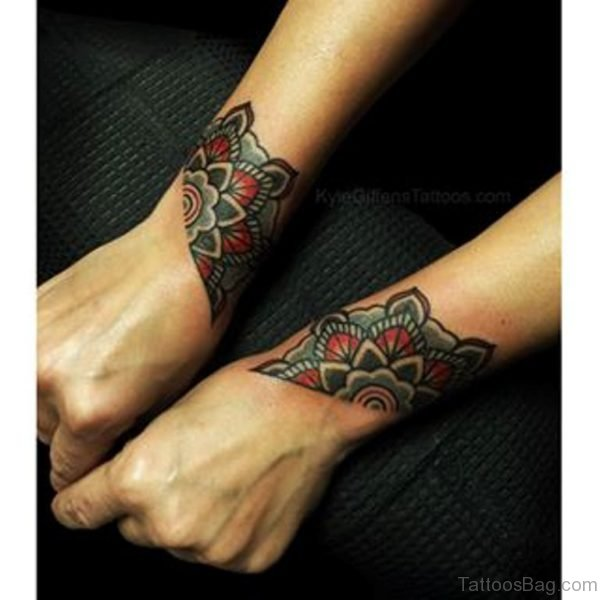 Attractive Mandala Tattoo On Wrist