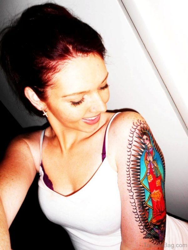 Attractive Mary Tattoo