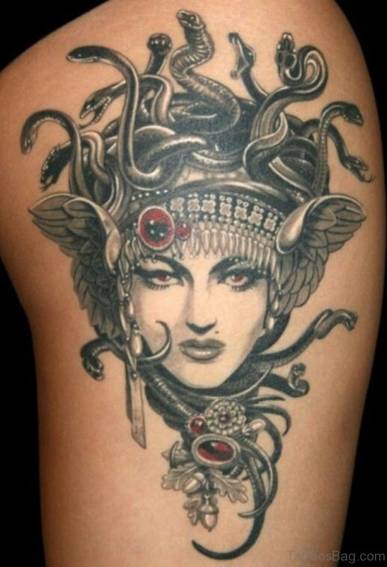 Attractive Medusa Tattoo