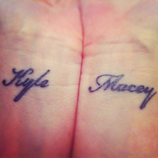 Attractive Name Tattoo Design