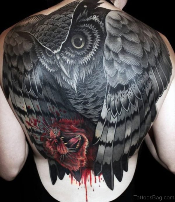 Attractive Owl Tattoo