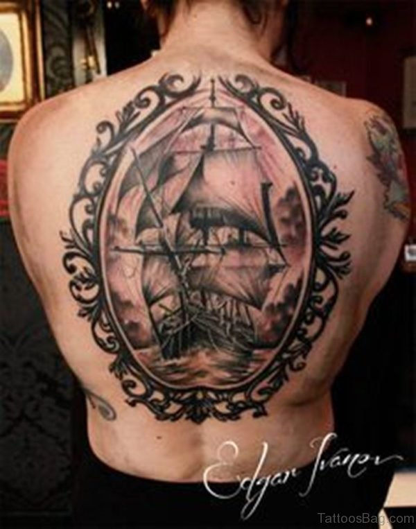 Attractive Ship Tattoo