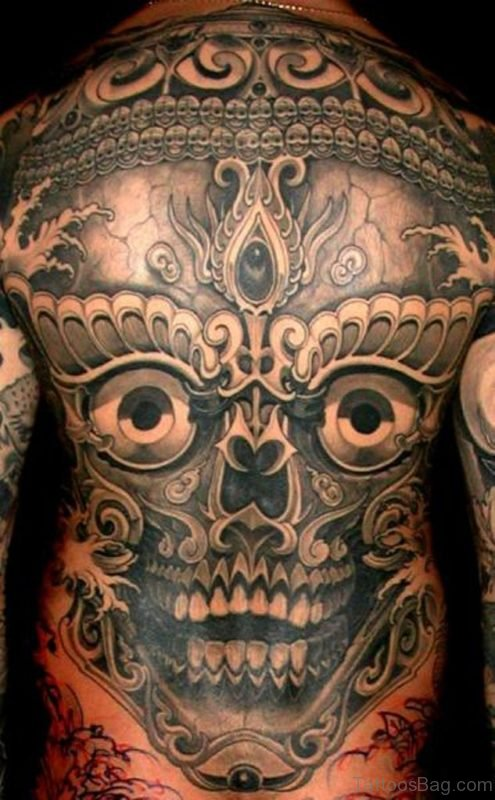 Attractive Skull Tattoo