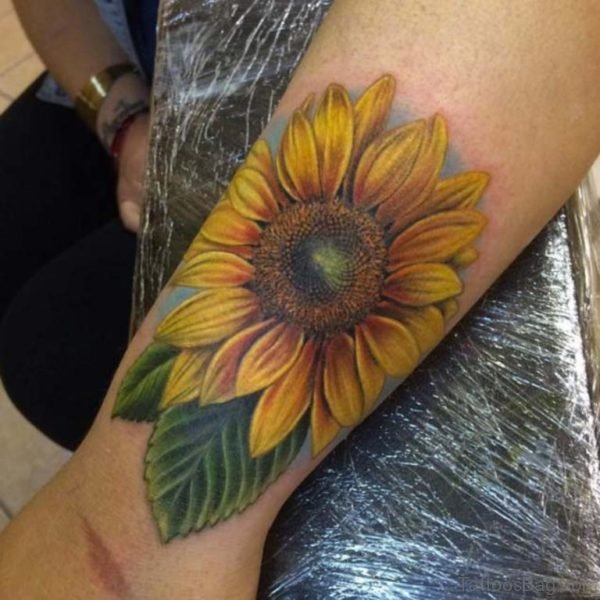 Attractive Sunflower Tattoo