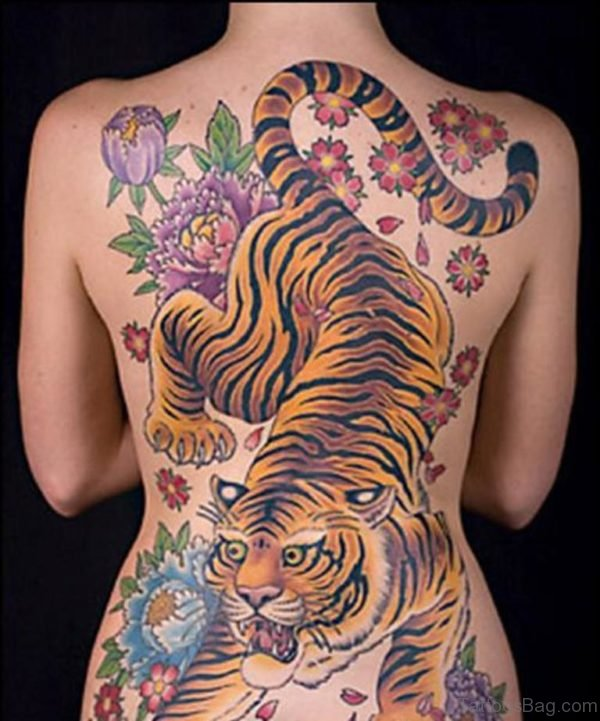 Attractive Tiger Tattoo