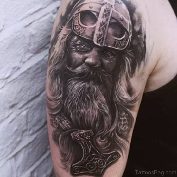 Attractive Viking Shoulder Tattoo