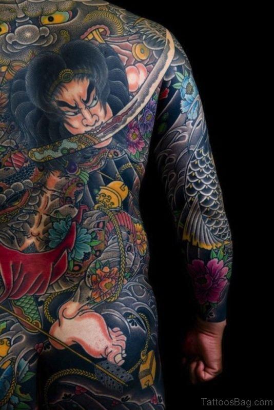 Attractive Warrior Tattoo