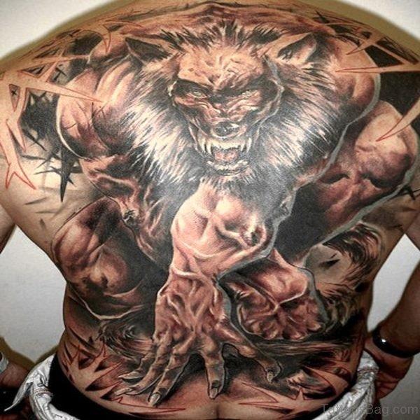 Attractive Wolf Tattoo