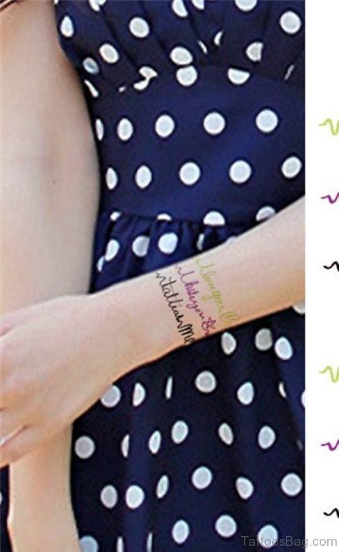 Attractive Wrist Tattoo