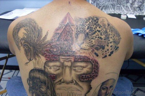 Aztec Tattoo On Back