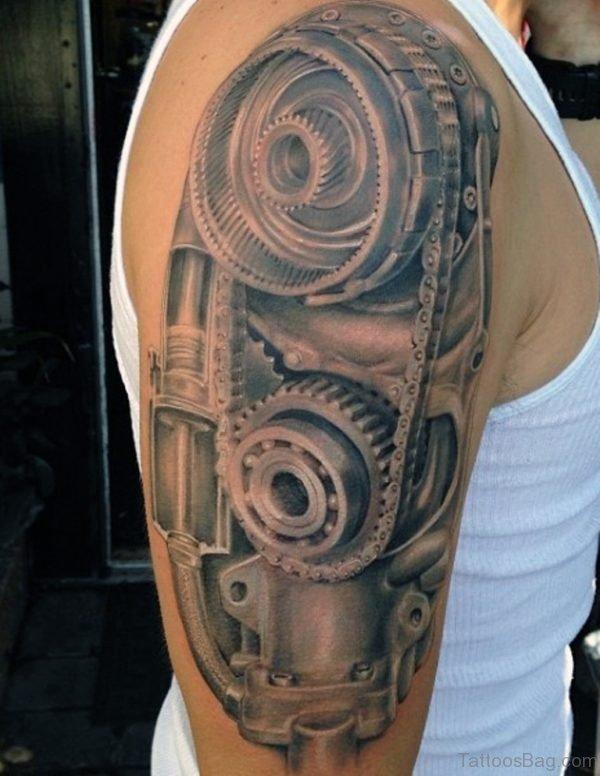 3589e85ea 92 Innovative Bio mechanical Tattoos On Shoulder