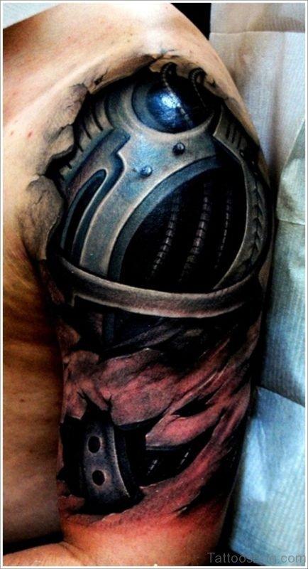 Awesome Bio Mechanical Tattoo