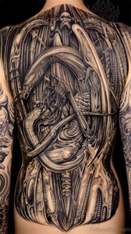 Awesome Biomechanical Tattoo