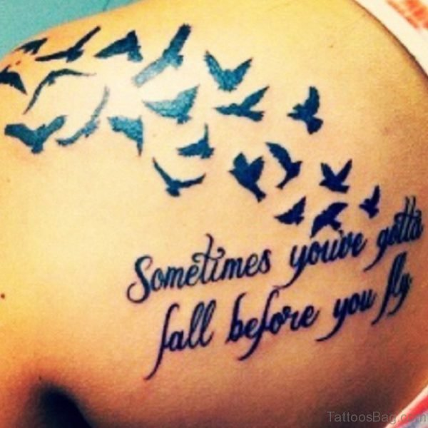 Awesome Flying Bird Tattoo