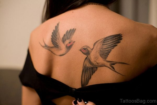 Flying  Bird Tattoo Design