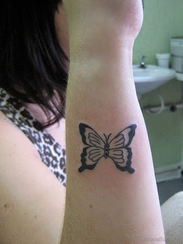 Awesome Butterfly Tattoo On Wrist