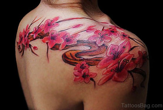 Awesome Cherry Blossom Tattoo