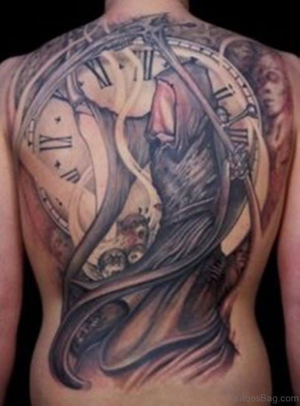 Awesome Clock Tattoo