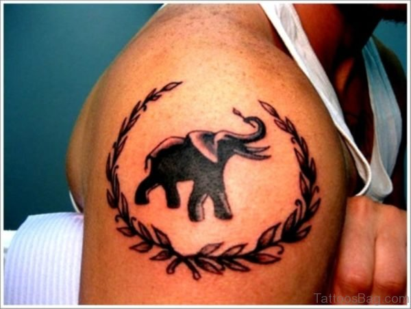 Awesome Designer Elephant Tattoo