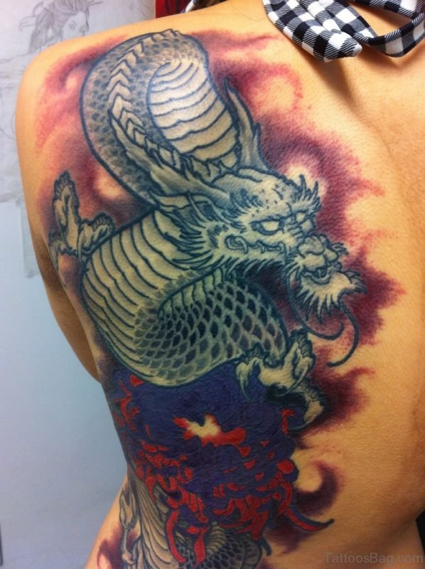 Awesome Dragon Tattoo Design