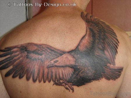 Awesome Eagle Tattoo On Back