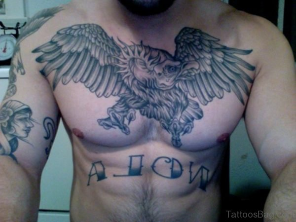 Awesome Eagle Tattoo On Chest