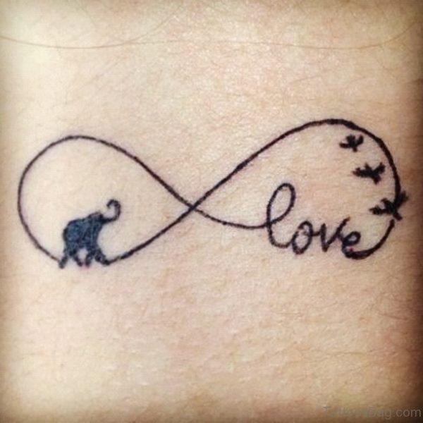 Elephant And Bird  Tattoo