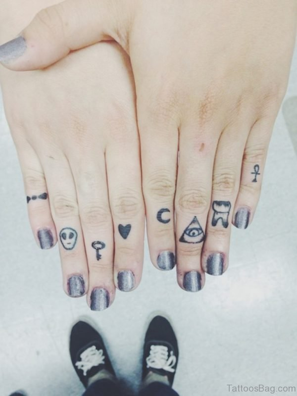 Awesome Finger Tattoo Design a