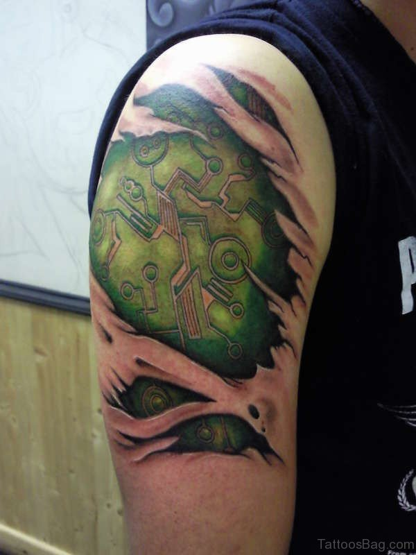 Awesome Green Rip Tattoo